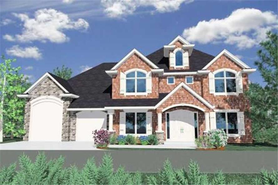 4-Bedroom, 3892 Sq Ft Country Home Plan - 149-1145 - Main Exterior