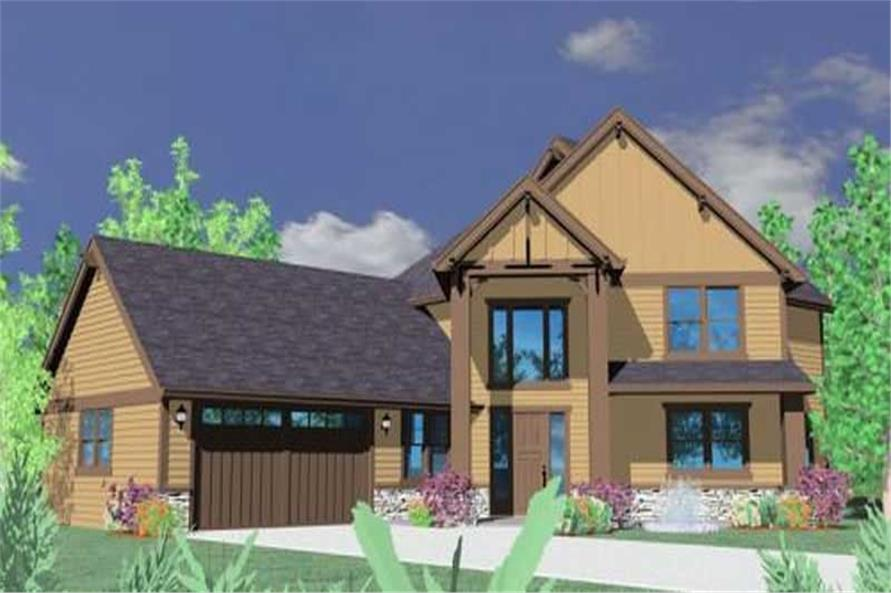 3-Bedroom, 2665 Sq Ft Ranch House Plan - 149-1148 - Front Exterior