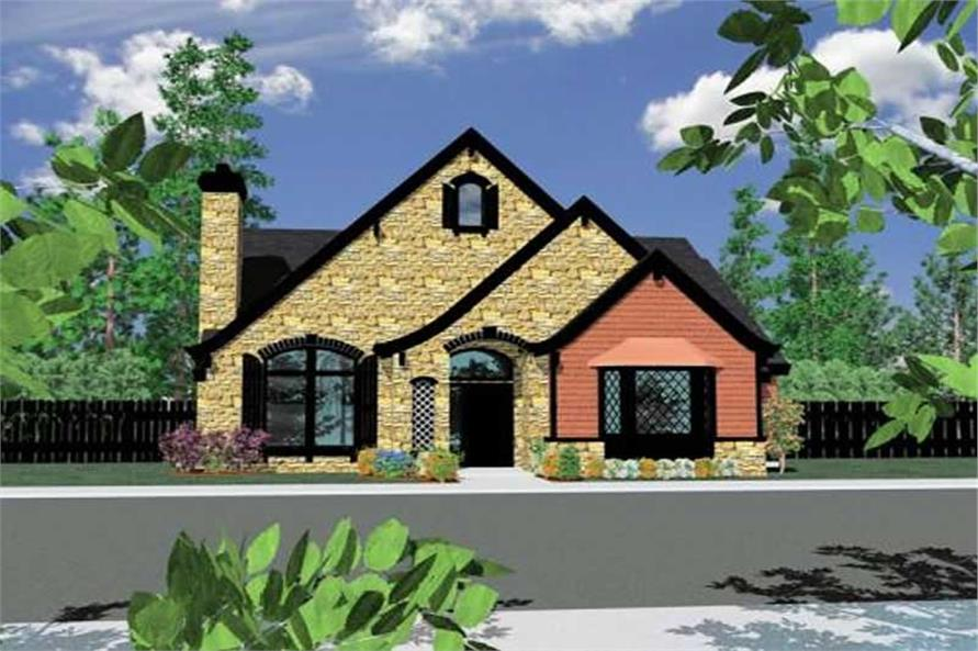 Home Plan Front Elevation of this 4-Bedroom,2532 Sq Ft Plan -149-1158
