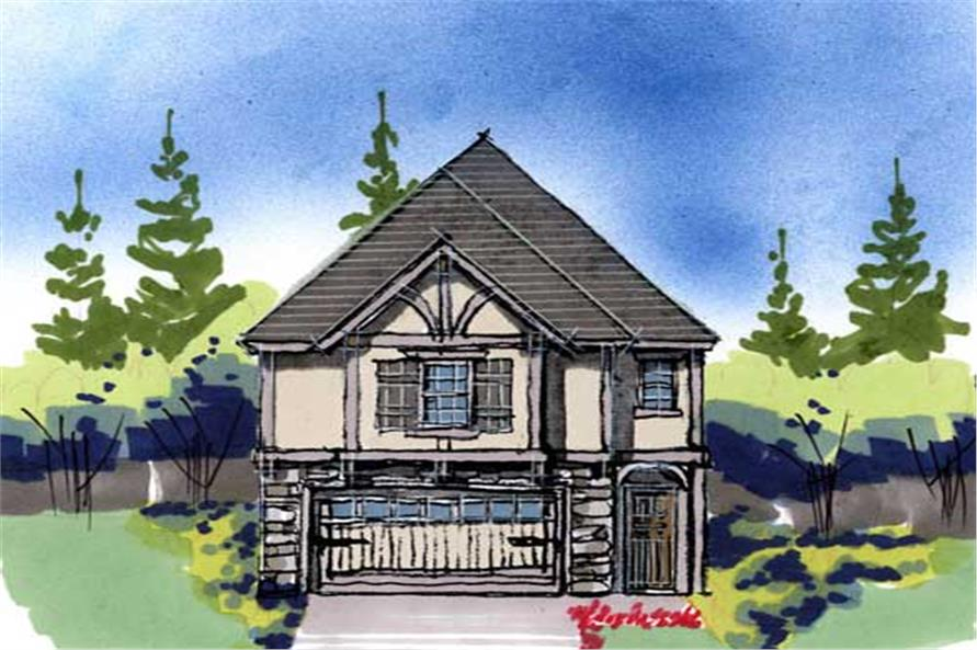 4-Bedroom, 1888 Sq Ft European House Plan - 149-1161 - Front Exterior