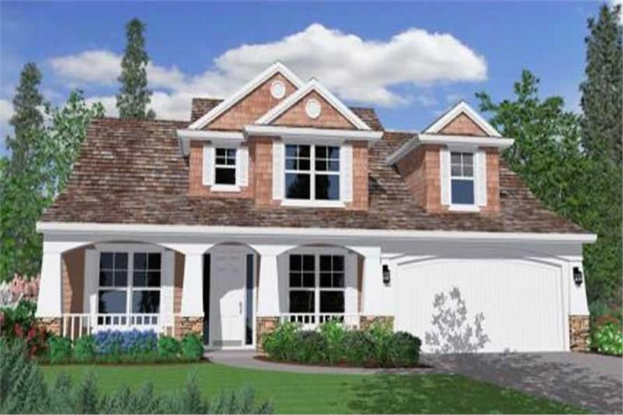 4-Bedroom, 2166 Sq Ft Country Home Plan - 149-1163 - Main Exterior