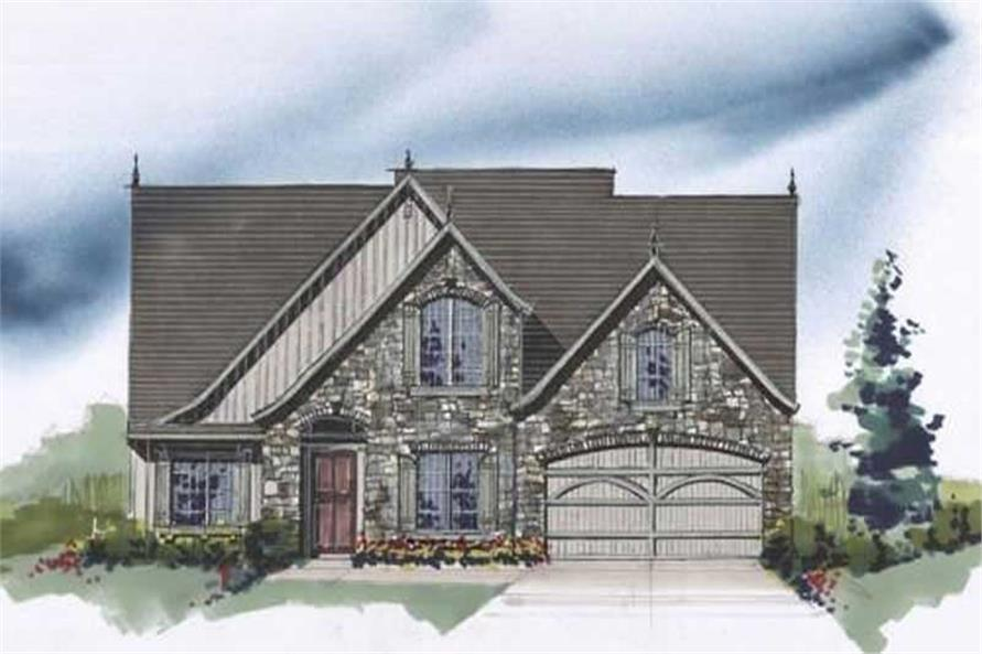 Home Plan Front Elevation of this 4-Bedroom,2166 Sq Ft Plan -149-1163