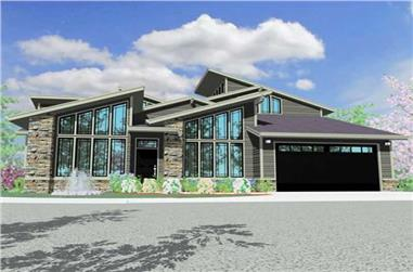 3-Bedroom, 2662 Sq Ft Contemporary Home Plan - 149-1165 - Main Exterior