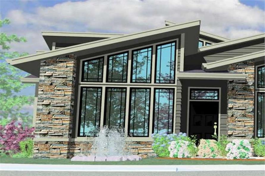 Home Plan Front Elevation of this 3-Bedroom,2662 Sq Ft Plan -149-1165