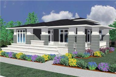 3-Bedroom, 2264 Sq Ft Prairie Home Plan - 149-1175 - Main Exterior