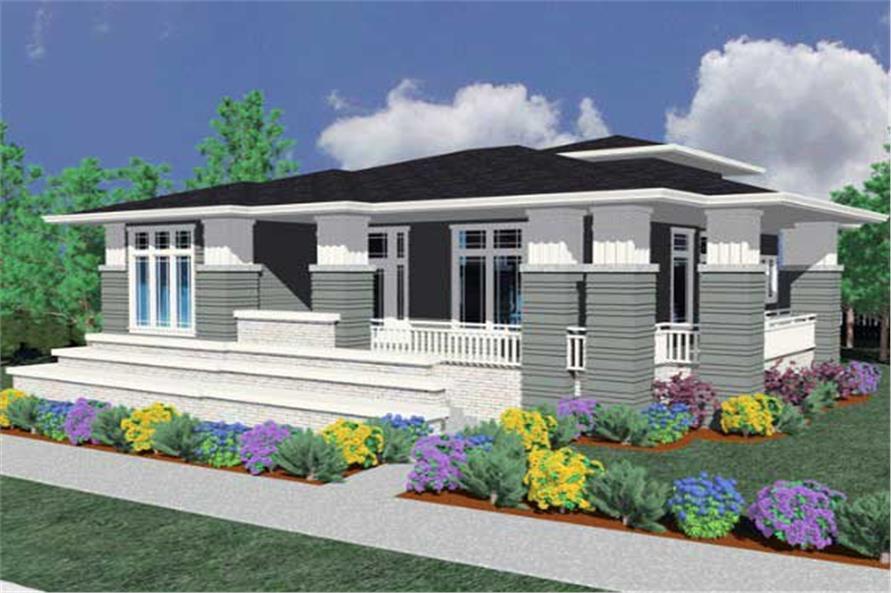3-Bedroom, 2264 Sq Ft Prairie Home Plan - 149-1175 - Main Exterior