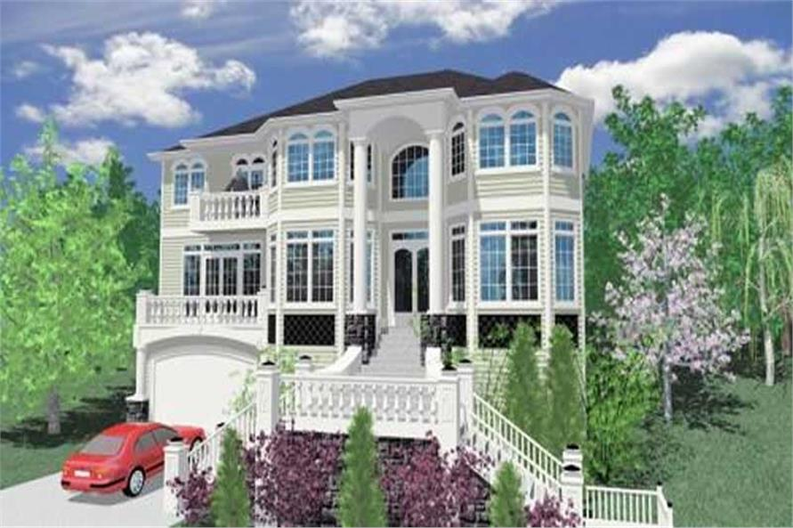 4-Bedroom, 4957 Sq Ft Contemporary House Plan - 149-1177 - Front Exterior