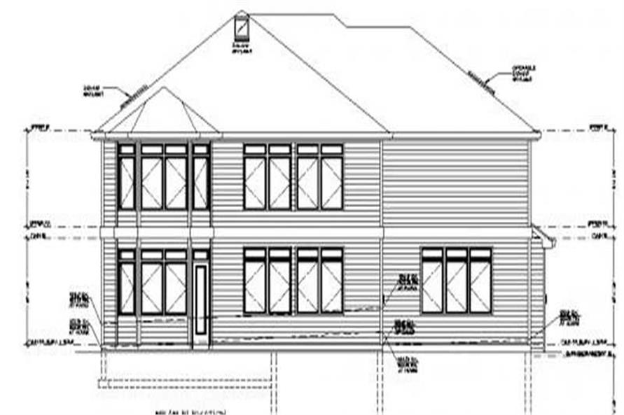 Home Plan Rear Elevation of this 4-Bedroom,4957 Sq Ft Plan -149-1177