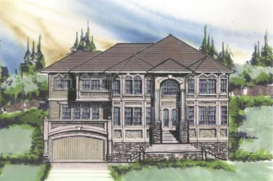 Home Plan Front Elevation of this 4-Bedroom,4957 Sq Ft Plan -149-1177