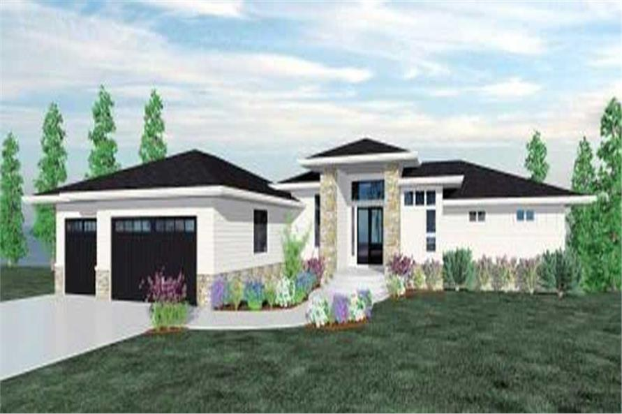 4-Bedroom, 4638 Sq Ft Contemporary House Plan - 149-1180 - Front Exterior