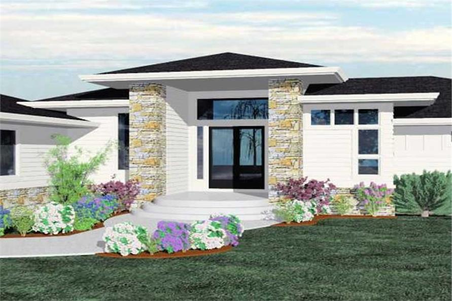 Home Plan Front Elevation of this 4-Bedroom,4638 Sq Ft Plan -149-1180
