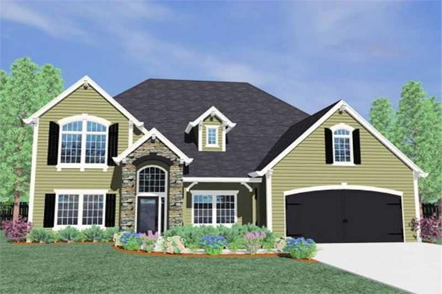 4-Bedroom, 3000 Sq Ft Country House Plan - 149-1184 - Front Exterior