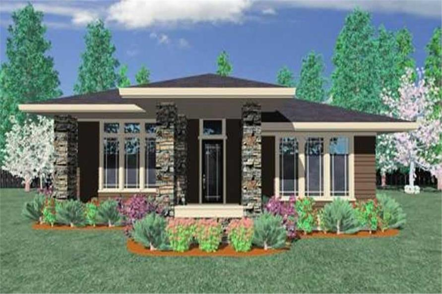 3-Bedroom, 1602 Sq Ft Contemporary House Plan - 149-1193 - Front Exterior