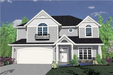 5-Bedroom, 3782 Sq Ft Country Home Plan - 149-1195 - Main Exterior