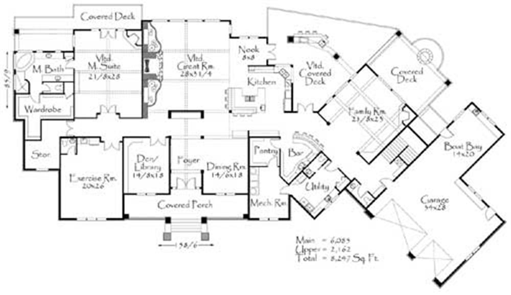 Blueprint quickview front luxury home s plans plano casa Large floor plans