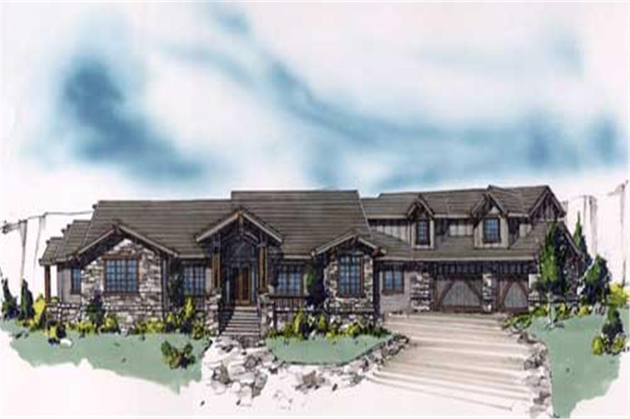 4-Bedroom, 8247 Sq Ft Craftsman Home Plan - 149-1198 - Main Exterior