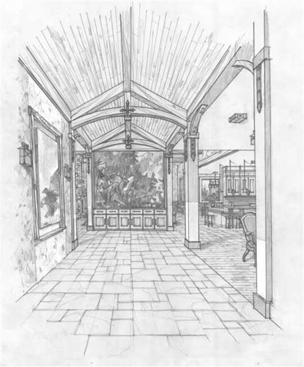Home Interior Drawing