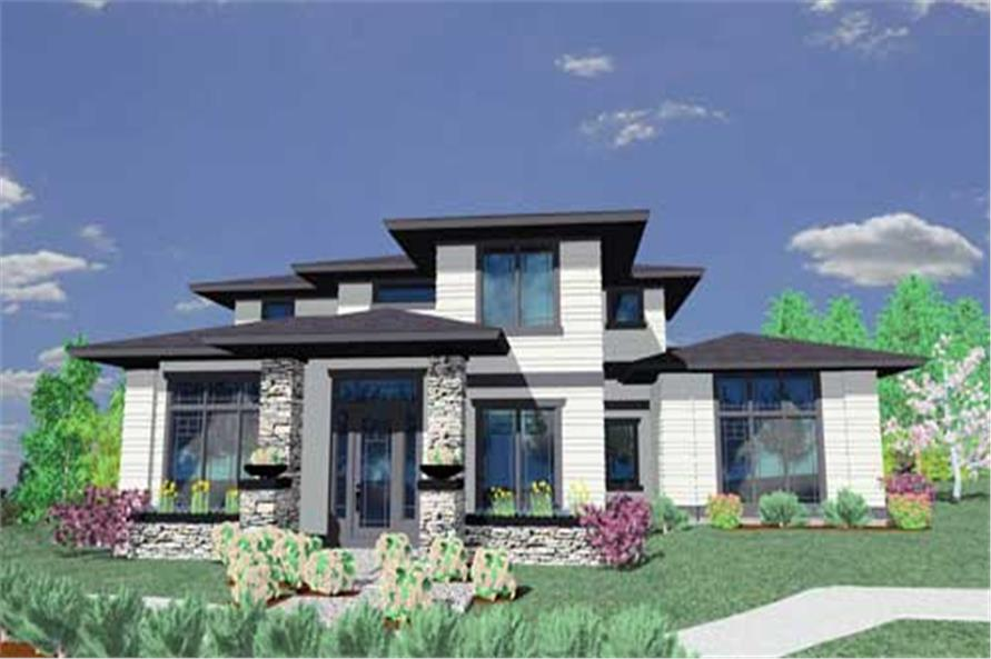 Prairie style house plans home design msap 2412 for Prairie style house plans