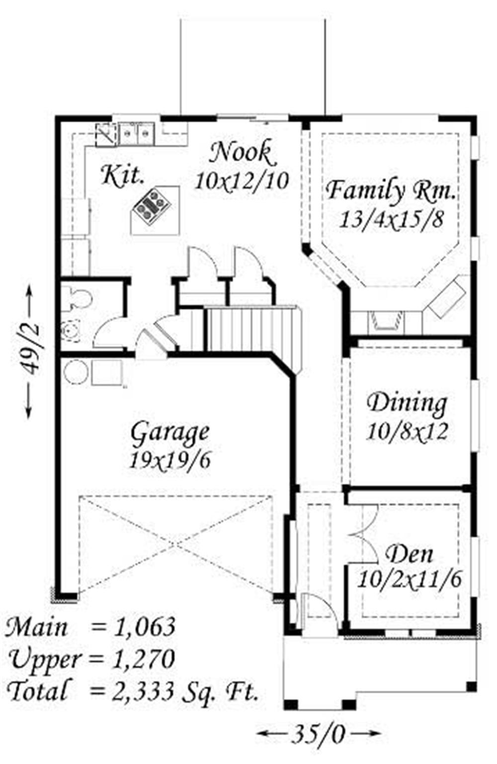 Large Images For House Plan 149 1206
