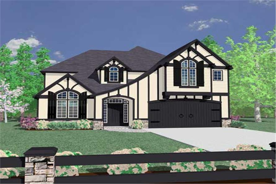 4-Bedroom, 3016 Sq Ft European Home Plan - 149-1207 - Main Exterior