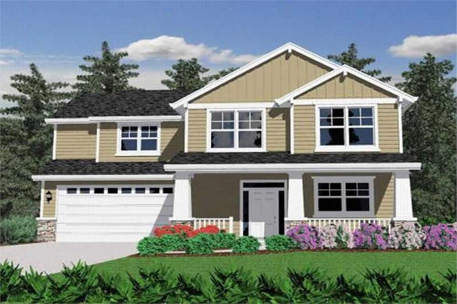 4-Bedroom, 2102 Sq Ft Arts and Crafts Home Plan - 149-1213 - Main Exterior