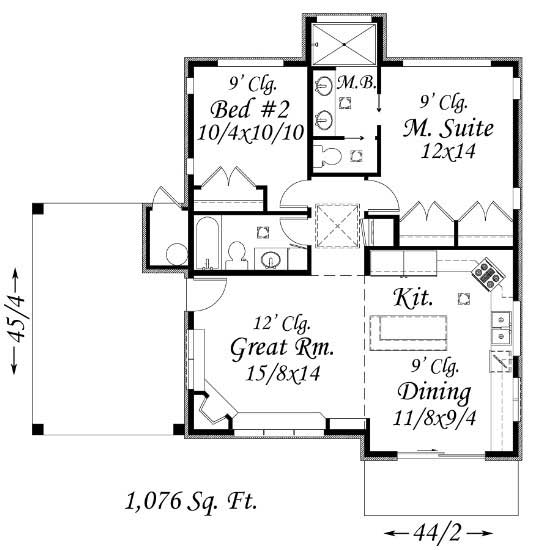 Modern feng shui house plan home plan 149 1216 for Garage feng shui
