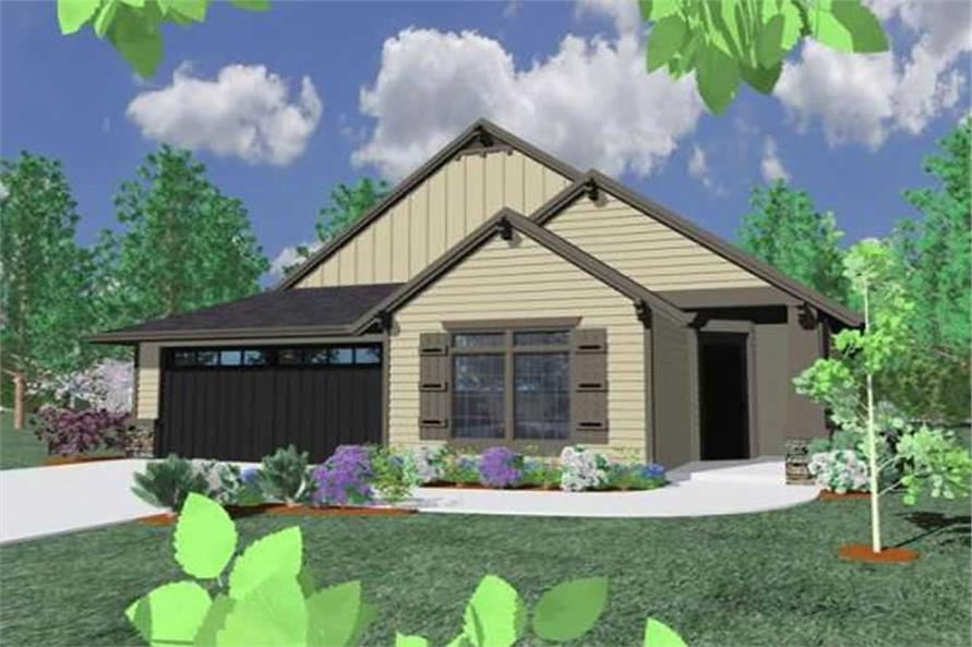 4-Bedroom, 1898 Sq Ft Country House Plan - 149-1219 - Front Exterior