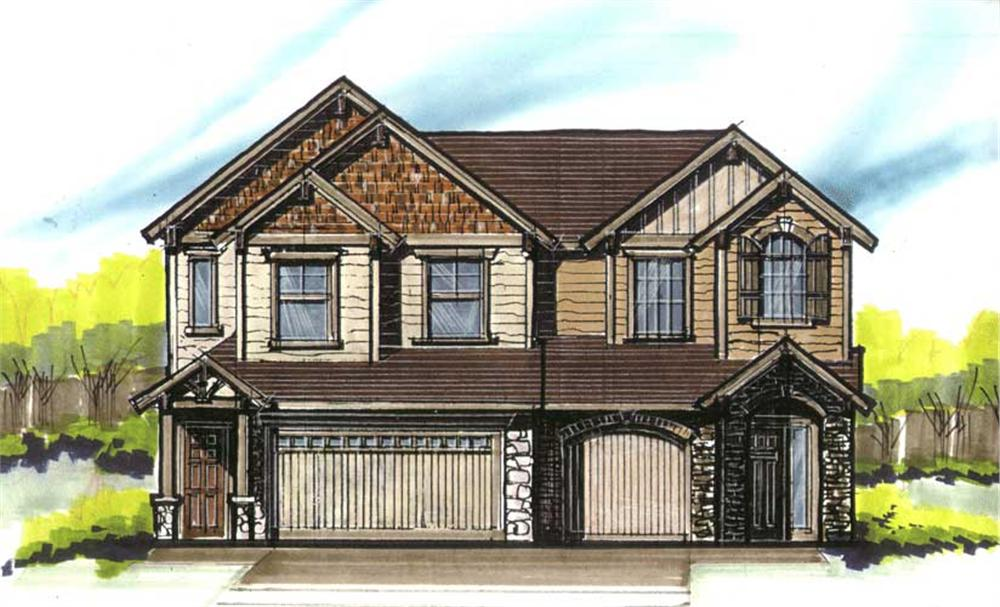 Front elevation of Country home (ThePlanCollection: House Plan #149-1220)