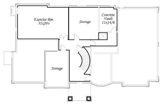 In law suite home plan 6 bedrms 6 5 baths 8817 sq ft Basement in law suite floor plans