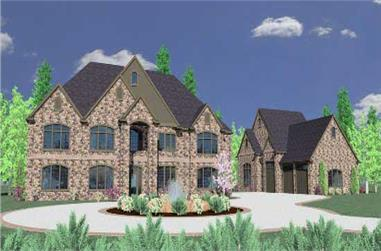 6-Bedroom, 8817 Sq Ft In-Law Suite House Plan - 149-1223 - Front Exterior