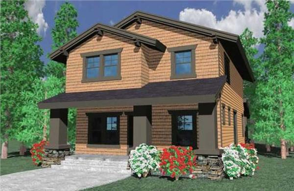 This image shows the craftsman style of the home.