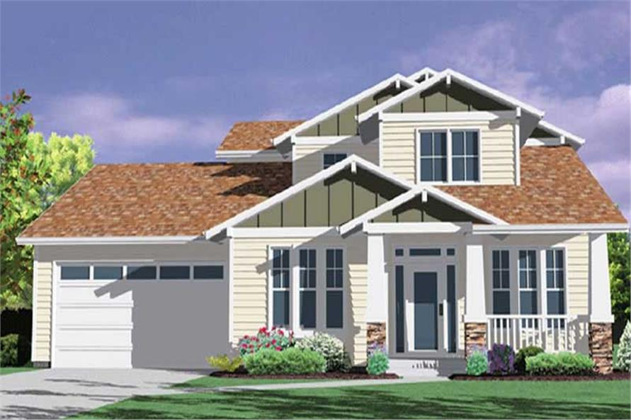4-Bedroom, 1983 Sq Ft Craftsman Home Plan - 149-1227 - Main Exterior
