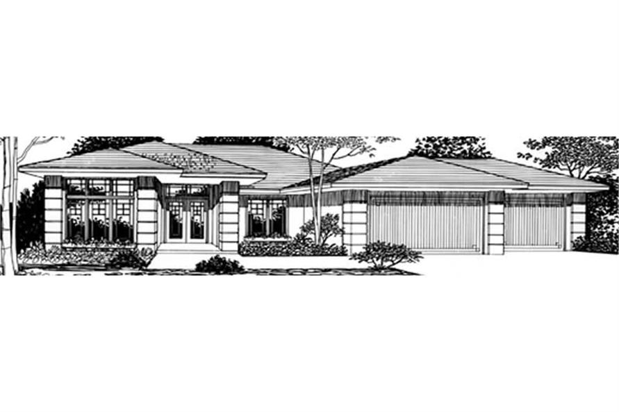 2-Bedroom, 1995 Sq Ft Feng Shui Home Plan - 149-1230 - Main Exterior