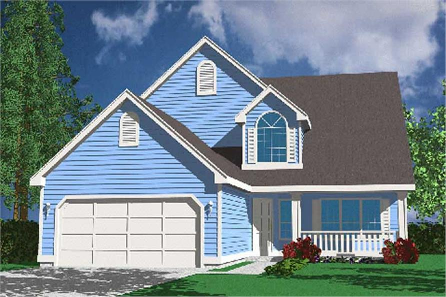 4-Bedroom, 1987 Sq Ft Country Home Plan - 149-1233 - Main Exterior