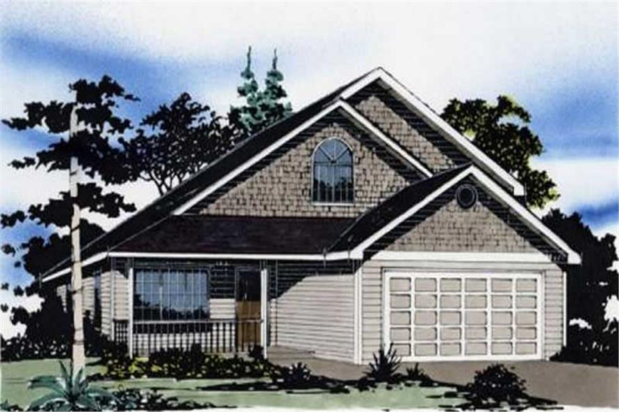 3-Bedroom, 1663 Sq Ft Country Home Plan - 149-1235 - Main Exterior