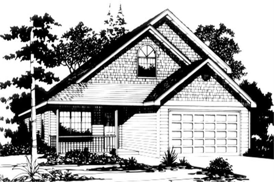Home Plan Rendering of this 3-Bedroom,1663 Sq Ft Plan -149-1235
