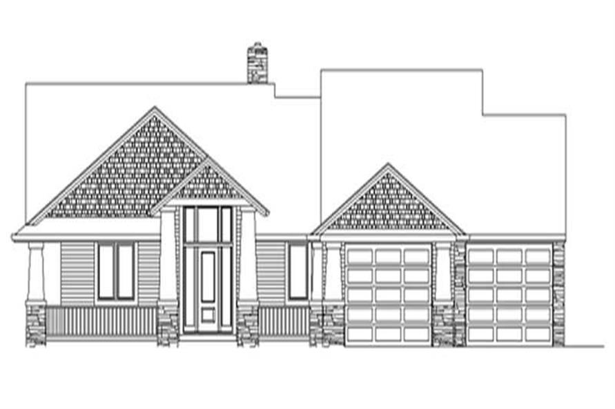 3-Bedroom, 2866 Sq Ft Ranch Home Plan - 149-1238 - Main Exterior