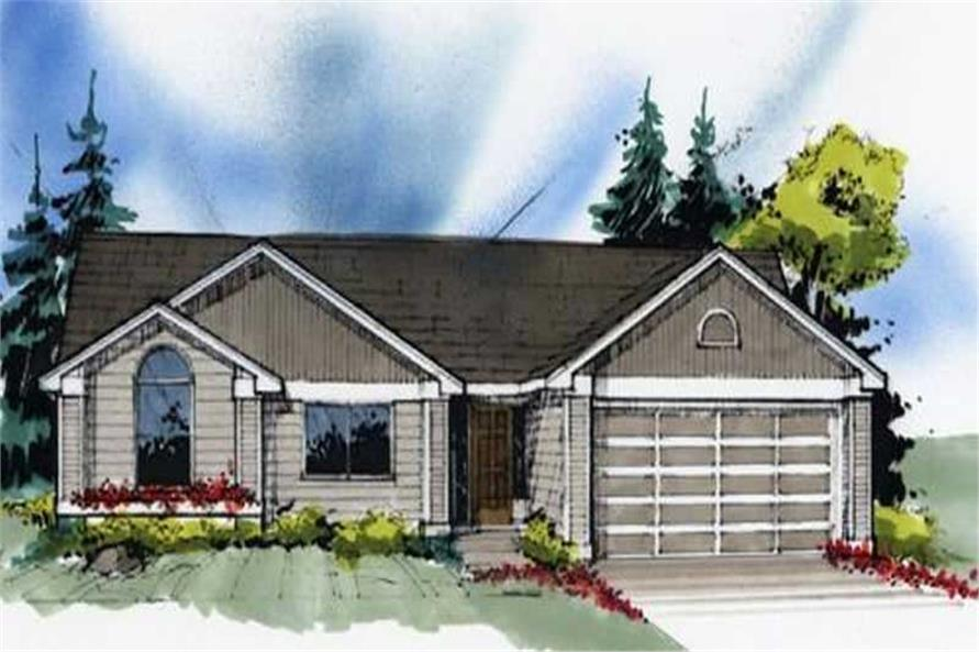 3-Bedroom, 1418 Sq Ft Feng Shui Home Plan - 149-1239 - Main Exterior