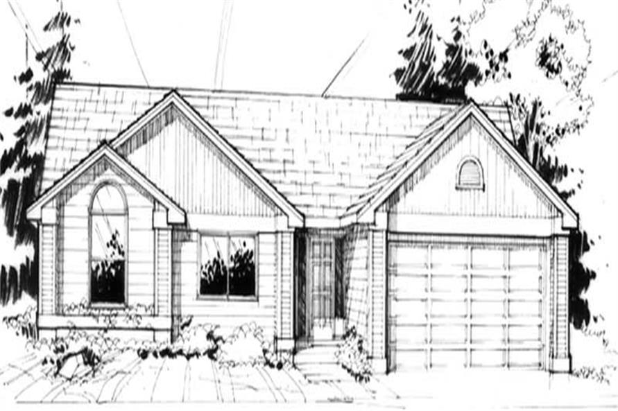 Home Plan Rendering of this 3-Bedroom,1418 Sq Ft Plan -149-1239