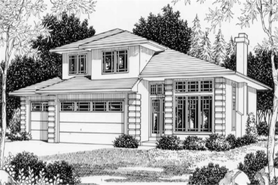 4-Bedroom, 1945 Sq Ft Country Home Plan - 149-1242 - Main Exterior