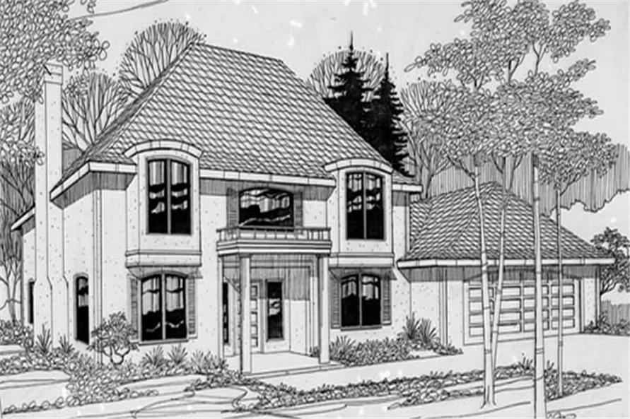 Home Plan Rendering of this 3-Bedroom,1935 Sq Ft Plan -149-1243