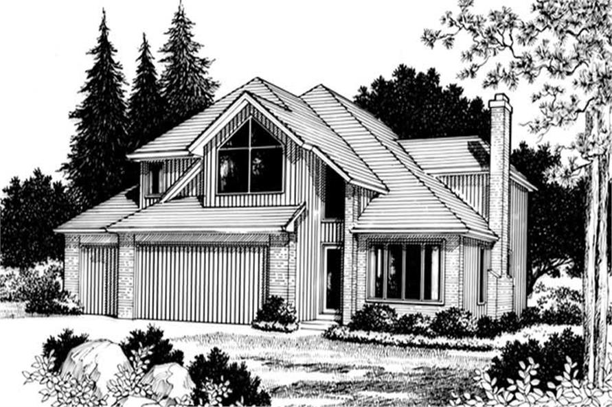 3-Bedroom, 1924 Sq Ft Contemporary Home Plan - 149-1246 - Main Exterior