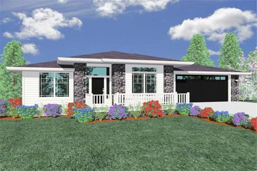 3-Bedroom, 2021 Sq Ft Prairie House Plan - 149-1249 - Front Exterior