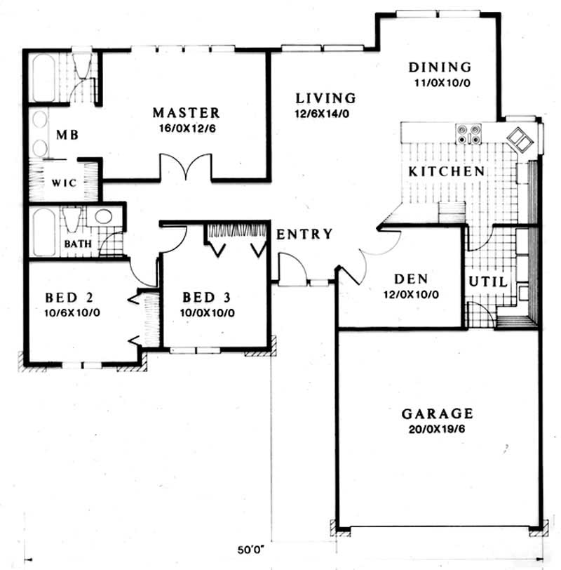 Small Ranch Feng Shui House Plans Home Design M 1402