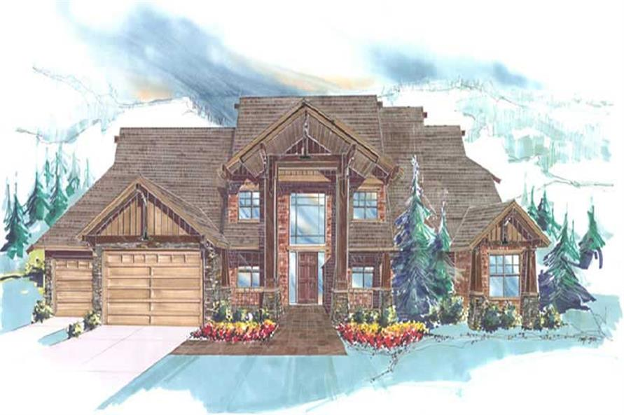 4-Bedroom, 5003 Sq Ft Country Home Plan - 149-1257 - Main Exterior