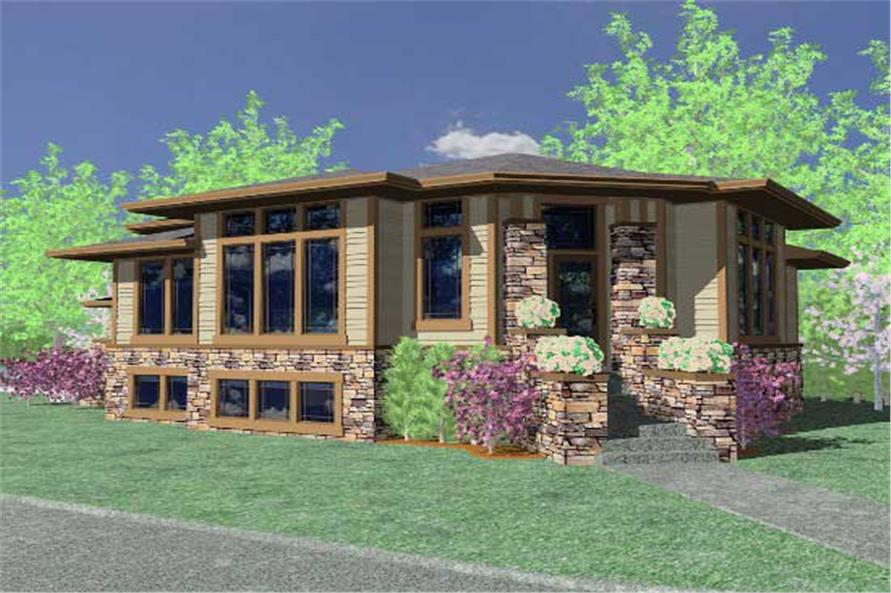 3-Bedroom, 2747 Sq Ft Contemporary Home Plan - 149-1260 - Main Exterior
