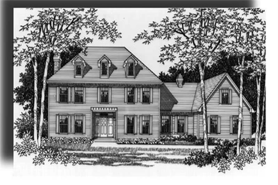 Home Plan Rendering of this 4-Bedroom,3461 Sq Ft Plan -149-1261