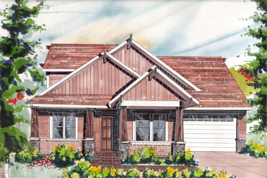 3-Bedroom, 2008 Sq Ft Craftsman House Plan - 149-1262 - Front Exterior