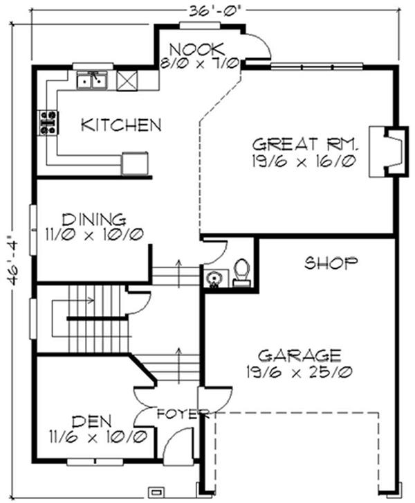 Feng Shui House Plan Layout http://www.theplancollection.com/house-plans/home-plan-2641