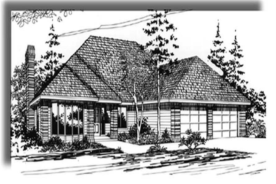 4-Bedroom, 1998 Sq Ft European Home Plan - 149-1266 - Main Exterior